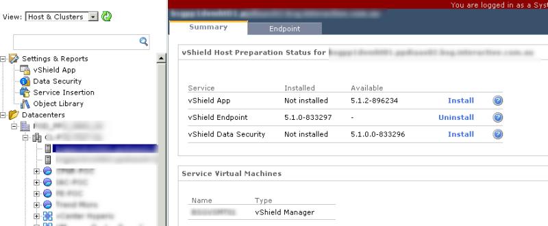 vShield Manager Endpoint