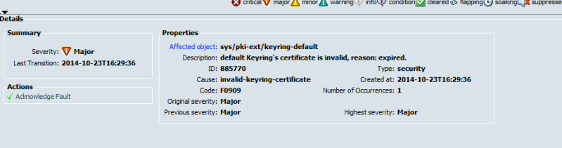 planning-fault check major